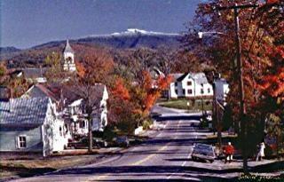Fairfax, Vermont, New England USA