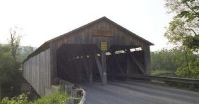 Pulp Mill Covered Bridge, Middlebury, Vermont
