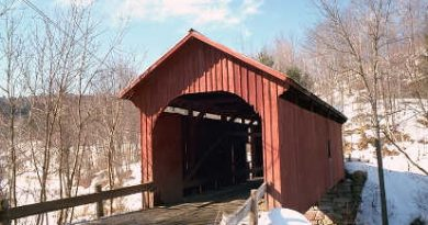Slaughter House Covered Bridge, Northfield, Vermont